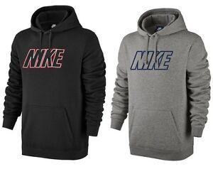 Men s New Nike Logo Fleece Hoodie Hoody Hooded Sweatshirt Jumper ... dc262fb3c