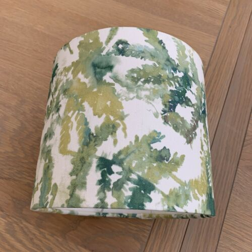 Handmade Lampshade Studio G Arielli Forest Fabric Ferns Leaves Green