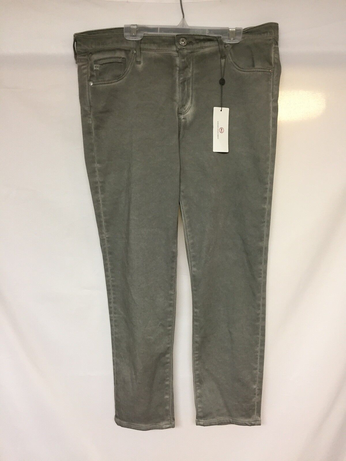 Adriano goldschmied THE PRIMA CROP mid-rise cigarette crop Green NWT