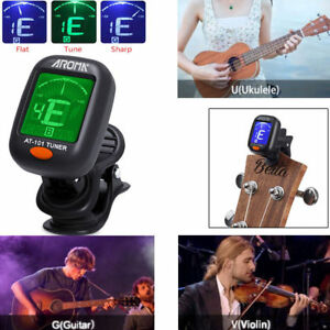 Newly-LCD-Clip-on-Electronic-Digital-Guitar-Tuner-For-Chromatic-Bass-Ukulele