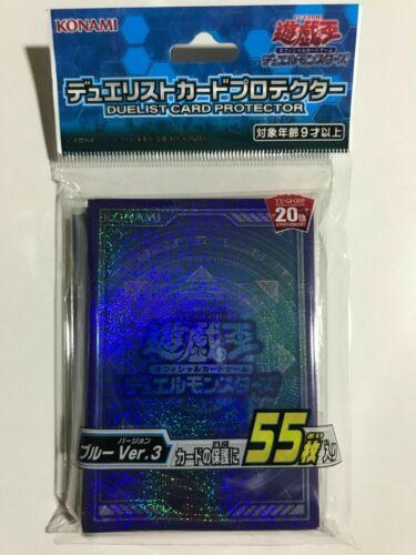 YuGiOh Konami 55 Pcs Duelist Protectors and Sleeves Blue Version 3 SEALED