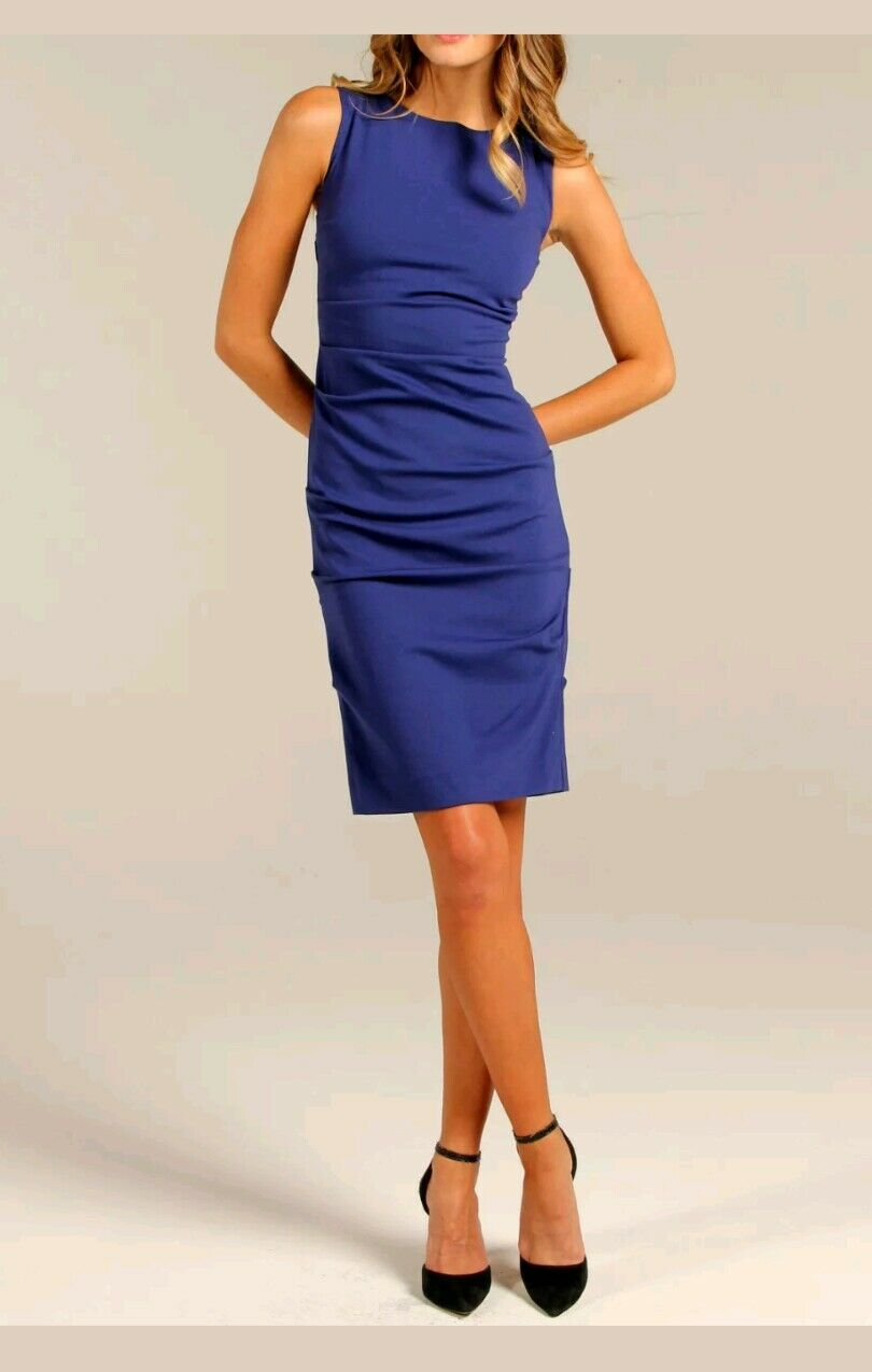 Nicole Miller NEW   Sleeveless Ruched  Dress