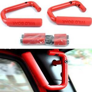 Red-Steel-Front-Grab-Bars-Handle-Fit-for-2007-2017-Jeep-Wrangler-JK-amp-Unlimited