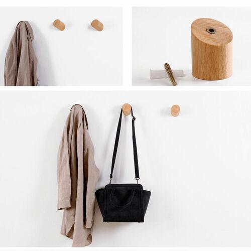 Coat Hanger Solid Wooden Wall Hook Hanger Fashion Modern Peg Home Retro