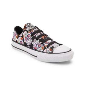 NEW Youth Converse Chuck Taylor All Star Lo Sugar Skulls Sneaker ... f9a4fdbba