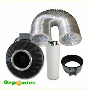 HYDROPONICS-4-INCH-INLINE-CENTRIFUGAL-DUCT-FAN-DUCTING-CARBON-FILTER-KIT