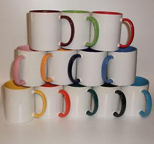 2-farbige Tasse Motivtasse Tassendruck Fototasse Werbetasse mit Wunschmotiv