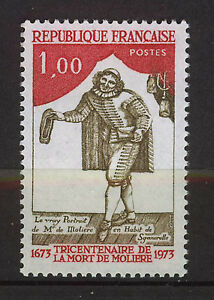 FRANCIA-FRANCE-1973-MNH-SC-1381-Moliere-playwright-and-actor