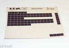 Microfich Ersatzteilkatalog Kawasaki GT 550 Modell 1991 Stand 05/1991