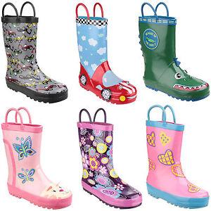 Detalles de Cotswold Charco Bota Niño Niña Infantil Botas de Agua UK4.5 13