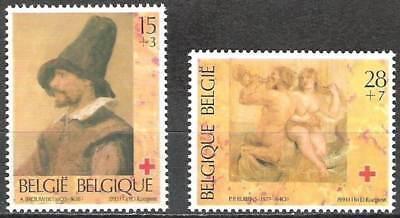-belgium**red Cross-rubens-brouwer Paintings-2v-1993-croixrouge-rodekruis-art