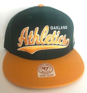 Oakland A s Athletics Cap Hat Forty Seven 47 Snapback MLB Adjustable ... 8f8f0a2a1b9