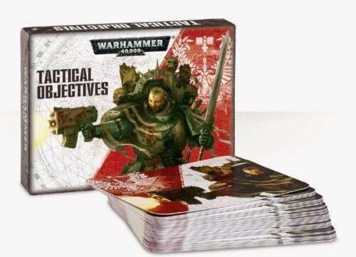 GAMES WORKSHOP 40K DATACARDS TACTICAL OBJECTIVES WARHAMMER 40,000