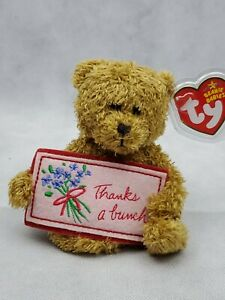 TY BEANIE BABY THANKS A BUNCH - (GREETINGS) - MINT with MINT TAG (ci)