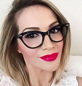 5921a83198f Retro Cat Eye BLACK Sexy DEMI Teacher PINUP Vintage WaYfe Eyeglasses ...