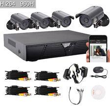 4PCS 800TVL Outdoor 8CH CCTV 960H DVR Video Security Night Vision Camera System