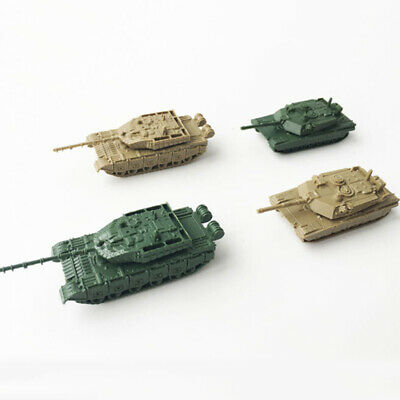 8pcs 1:144 4D Assembly Simulated Plastic Military Heavy Tank Model Toys Craft