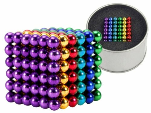 Magnetkugeln Magnastix 216 Stück Mehrfarbig Super Magnete Büro Magneten 4 mm NEU