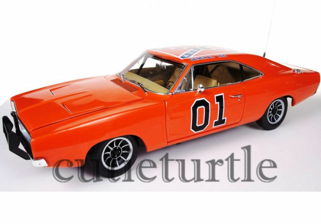 auto world 1 18 scale amm964 general lee 1969 dodge charger dukes of hazzard g nstig kaufen ebay. Black Bedroom Furniture Sets. Home Design Ideas
