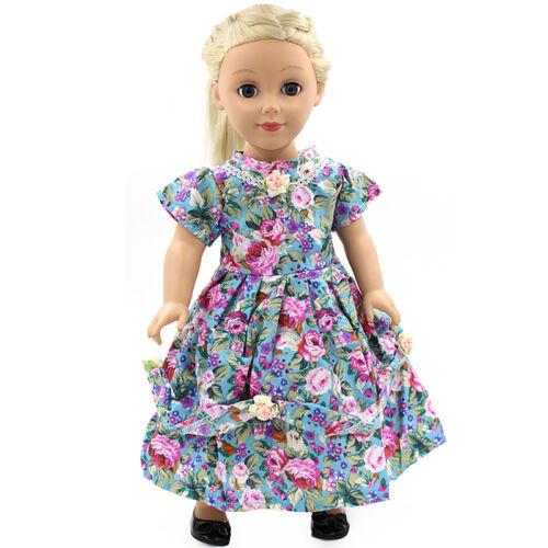"Fits 18/"" inch Girls Doll Handmade fashion Doll Clothes dress"