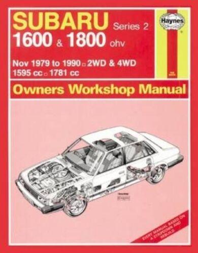 1 of 1 - Subaru 1600 & 1800 (Nov 79 - 90) Haynes Repair Manual (Service & repair manuals)