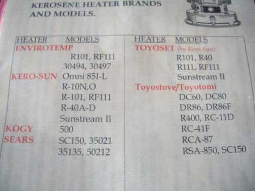 Kerosene Heater Wick  with Pins...FRESH /& FAST SHIP!! I - L Kerosun OMNI 85