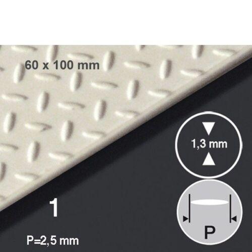 (241,67€/m²) PS-Tränenblech 6 x 10 cm, P=2,5 mm Schulcz, Stärke 1 mm