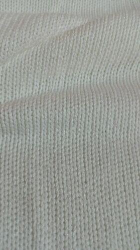 Blanco escasamente Knited Viscosa Suéter Tejido de punto tela Vendido por metros