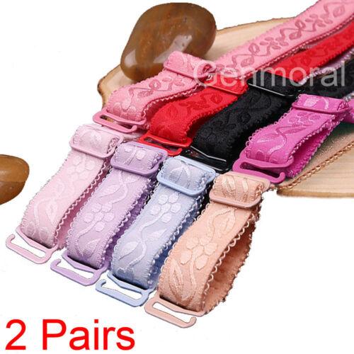 2 Pair Adjustable Bra Accessories Strap Adjustable Replacement Shoulder Belt