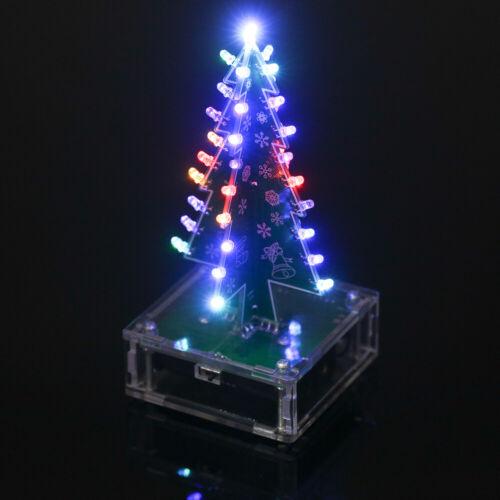 das LED-hellen Acrylweihnachtsbaum mit Musik O1S1 DIY-buntes einfaches