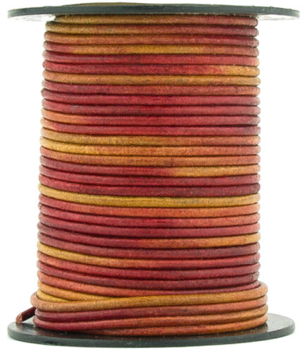 27.34 yards Xsotica® Gypsy Irasa Natural Dye Round Leather Cord 2mm 25 meters