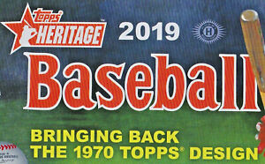 2019-Topps-Heritage-Baseball-complete-Team-Set-Base-Cards-you-Pick-from-list