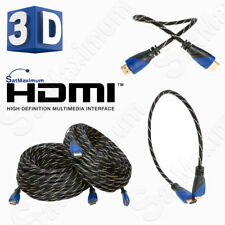 HDMI HIGH SPEED CABLE PREMIUM 1.4 Mesh Wire BLURAY 3D DVD HDTV Gold Plated - LOT