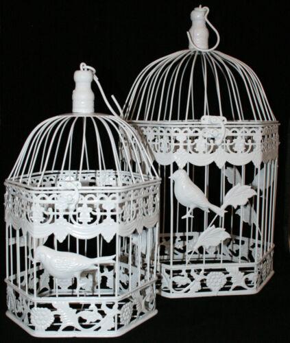 Wedding Birdcage Decorative Centerpiece Hexagonal with Bird Motive