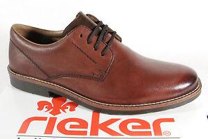 Rieker-15323-Homme-Chaussure-a-Lacets-Chaussure-Basse-Baskets-en-Cuir-Braun-Neuf
