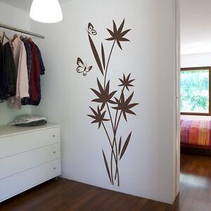 Details zu Wandtattoo Wandaufkleber Blumen Pflanze Wohnzimmer Schlafzimmer  Flur Diele jap04