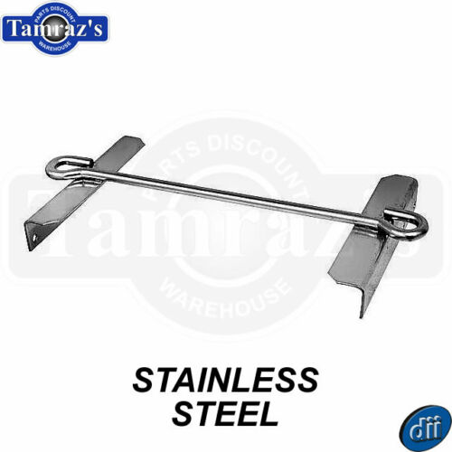 STAINLESS STEEL 58-66 Chevy C//K Pickup Battery Tray Hold Down Clamp TOP FRAME