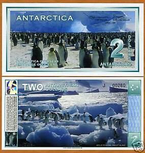 5 x $2 UNC Clear Window Polymer New Design 2020 LOT Antarctica