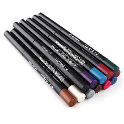 Automatic Fashion 12 Colors Waterproof Glitter Lip Eye Shadow Eyeliner Pencil