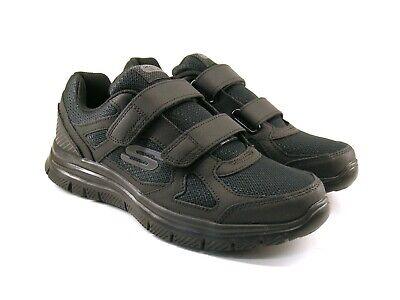 Skechers 58365 Nero Scarpe Sneakers Sportive Uomo Memory Foam Tessuto Strap | eBay