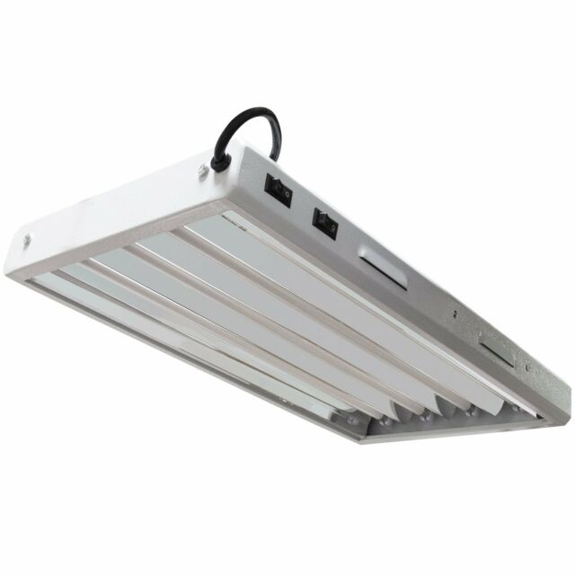VIVOSUN 2ft 4-lamp T5 HO Fluorescent Grow Light Fixture - UL Listed ...