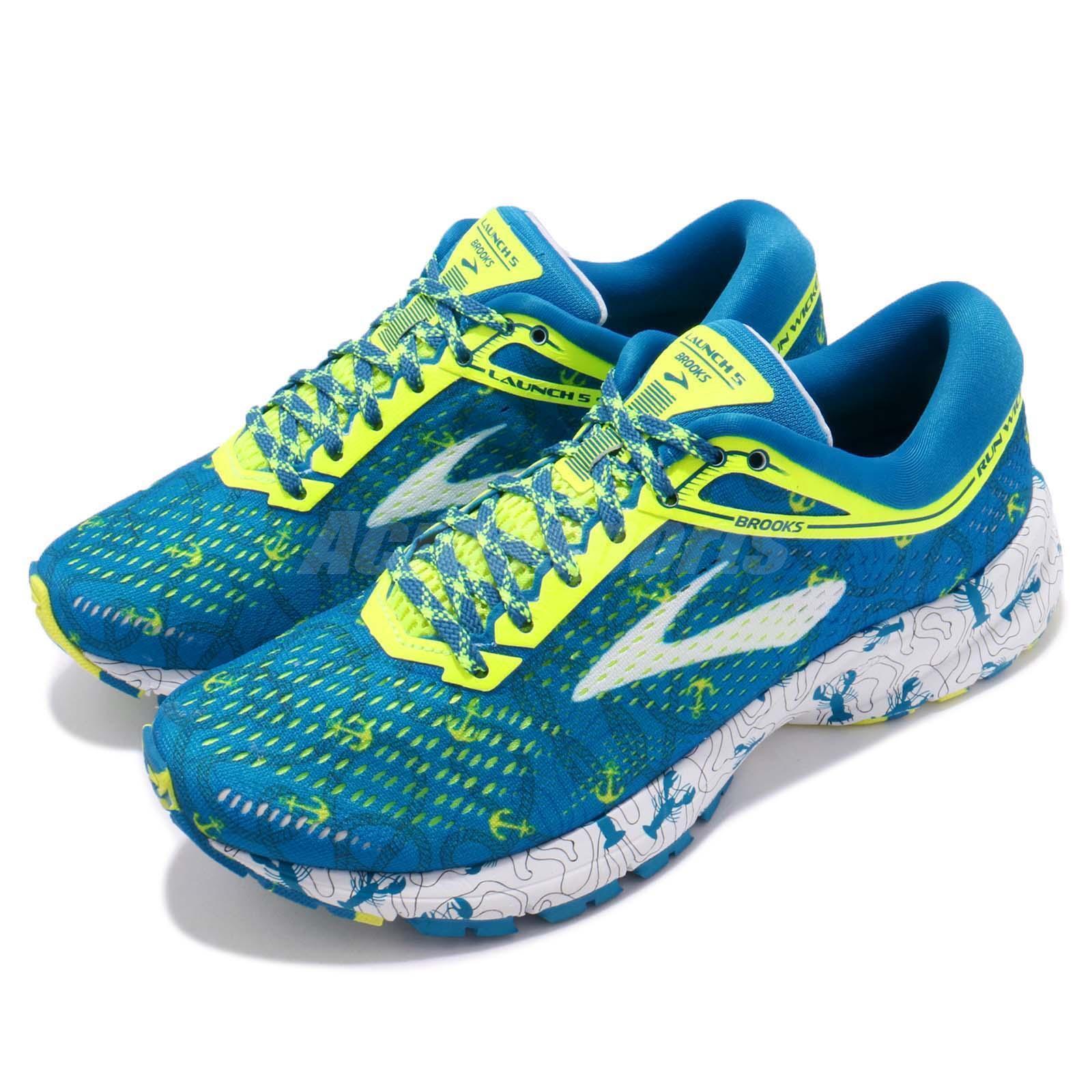 Brooks Launch 5  Boston Marathon Lobster bluee Volt Women Running shoes 120266 1B  save up to 50%