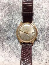 Vintage Bulova Accutron 218 Mens 10k GF Wristwatch w/Crocodile Band