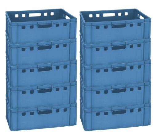 10 Fleischerkiste Fleischereikiste Eurokiste Metzgerkiste E1 60x40 Blau
