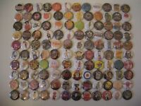 Vtg 80s 90s Mixed Lot 120 Rock Band Character 1 Inch (2.5cm) Pin Button Badge D