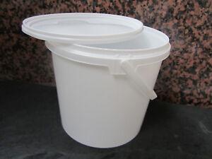 KUNSTSTOFFEIMER-2-5-12-5-Liter-Eimer-Plastik-Lebensmittelecht-PP-Rundeimer