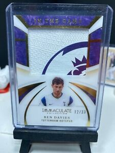 2020 Immaculate Soccer BEN DAVIES Match Worn In The Game JUMBO Patch 12/33