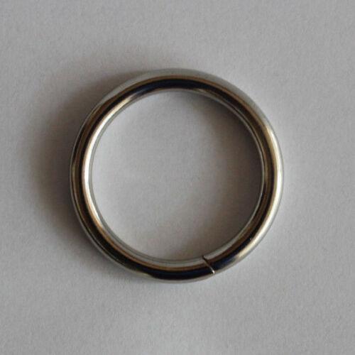 Ring geschweißt vernickelt 26*3,5  mm   Paracord