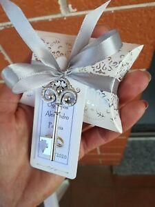 Segnaposto Matrimonio Meno Di 1 Euro.Bomboniere Chiave Apribottiglie Matrimonio Nozze Argento