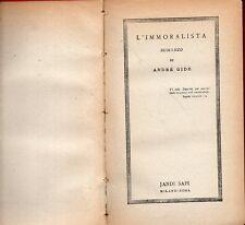 Mu6 L'immoralista André Gide Jandi Sapi 1945